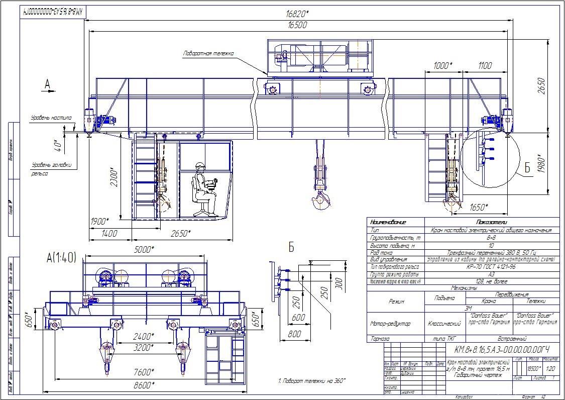 Электрическая схема управления мостовым краном фото 833