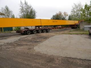 Транспортировка мостов крана, пролет 28,5м.