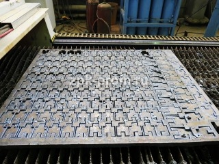Производство кранов, участок плазменной резки