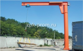 Консольный кран г/п 3,2 тн.,  в/п 8 м.  вылет консоли 8 м.